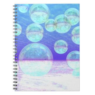 Claridad escarchada -- Belleza y profundidad azule Libros De Apuntes Con Espiral
