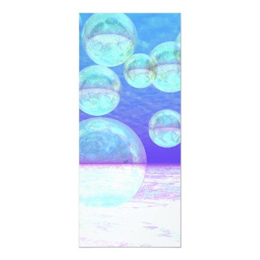 """Claridad escarchada -- Belleza y profundidad Invitación 4"""" X 9.25"""""""