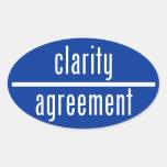 Claridad sobre el pegatina del óvalo del acuerdo