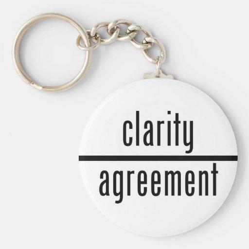 Claridad sobre llavero redondo del acuerdo