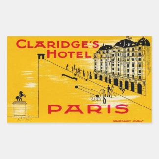 Claridge's Hotel (Paris) Stickers En Rectangle