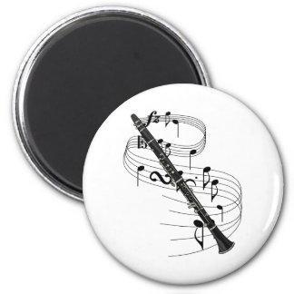 Clarinet 2 Inch Round Magnet