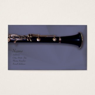 Clarinet and Business Card