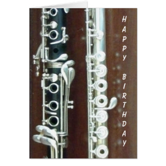 Clarinet and Flute Duo Greeting Card
