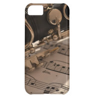 Clarinet and Music Sheets iPhone 5C Cases