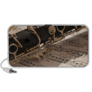 Clarinet and Music Sheets iPhone Speakers