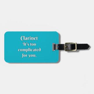 Clarinet Attitude! Bag Tag