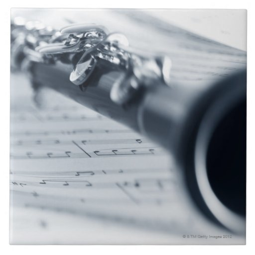 Clarinet Azulejo Cuadrado Grande