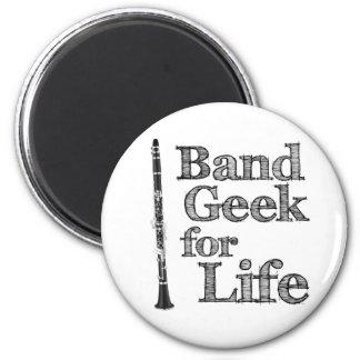 Clarinet Band Geek 2 Inch Round Magnet