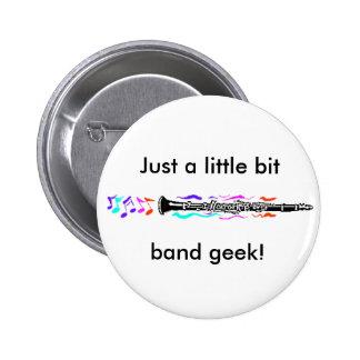 Clarinet Band Geek Buttons