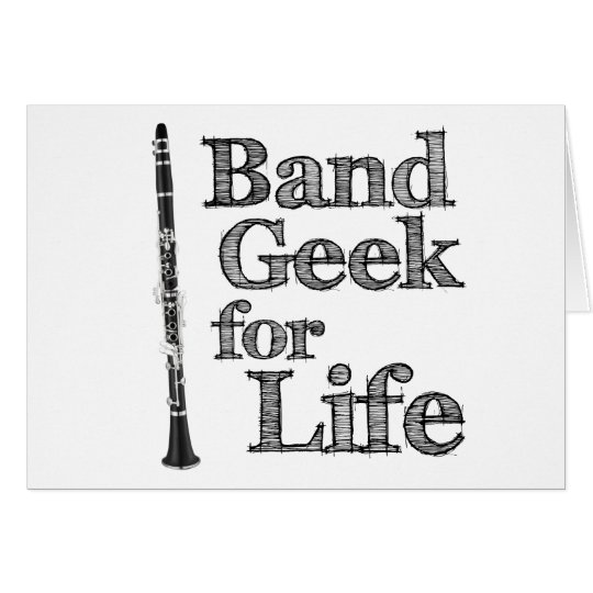 Clarinet Band Geek Card