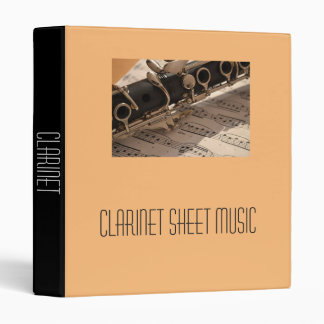 Clarinet band Sheet Music student folder portfolio 3 Ring Binder