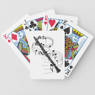 Clarinet Bicycle Playing Cards
