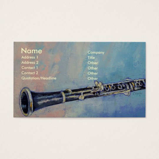 Clarinet Business Card