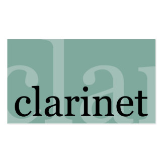 Clarinet Double-Sided Standard Business Cards (Pack Of 100)