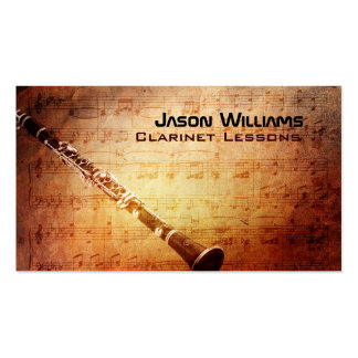Clarinet Business Cards