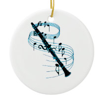 Clarinet Ceramic Ornament