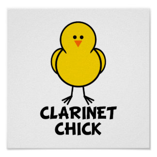Clarinet Chick Poster
