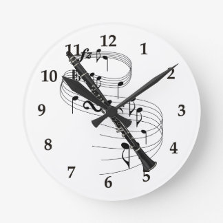 Clarinet Round Wall Clock