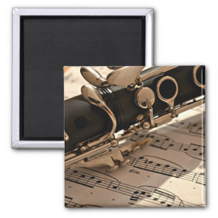 Clarinet Closeup Magnet