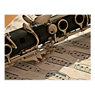 Clarinet Closeup Postcard