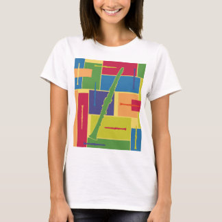 Clarinet Colorblocks Ladies T-shirt