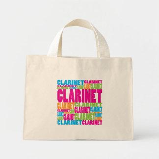 Clarinet colorido bolsa tela pequeña