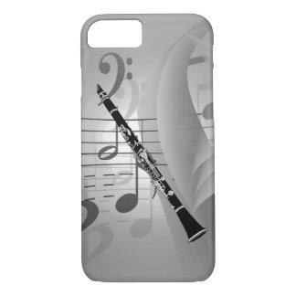 Clarinet con acentos musicales funda iPhone 7