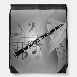 Clarinet con acentos musicales mochila