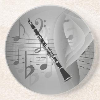 Clarinet con acentos musicales posavasos diseño