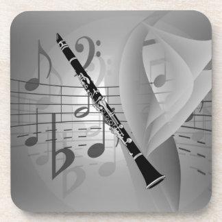 Clarinet con acentos musicales posavasos