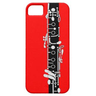 Clarinet con rojo iPhone 5 carcasas