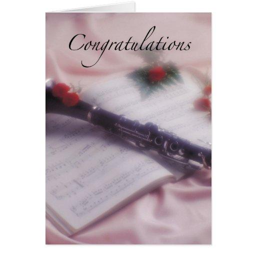 Clarinet Congratulations Greeting Cards