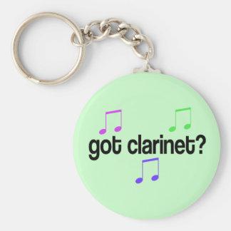 Clarinet conseguido llavero redondo tipo pin
