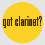 ¿clarinet conseguido? pegatina redonda