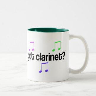 Clarinet conseguido taza de café de dos colores