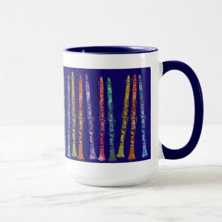 Clarinet Crayons on Blue Mug