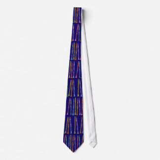 Clarinet Crayons on Blue Neck Tie