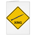 Clarinet Crossing Highway Sign Card