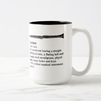 Clarinet definido taza de café