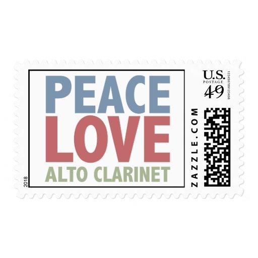 Clarinet del alto del amor de la paz