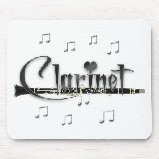 Clarinet del amor del Clarinet I Alfombrillas De Raton