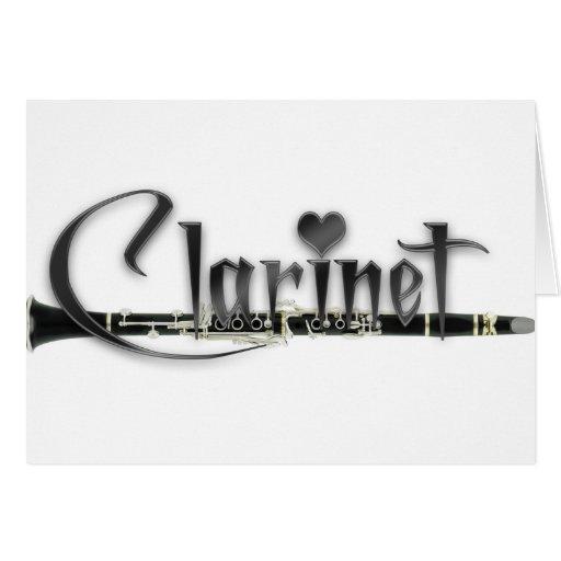 Clarinet del amor del Clarinet I Tarjeta