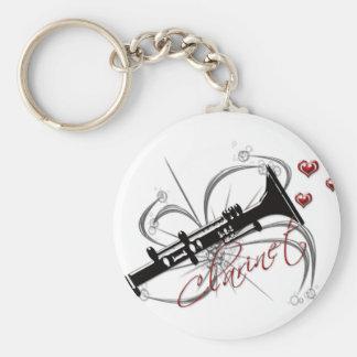 Clarinet del amor llavero personalizado