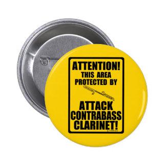 Clarinet del Contrabass del ataque Pins