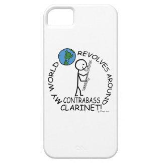Clarinet del Contrabass - el mundo gira alrededor iPhone 5 Case-Mate Carcasa
