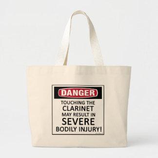 Clarinet del peligro bolsa de tela grande