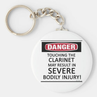 Clarinet del peligro llavero redondo tipo pin