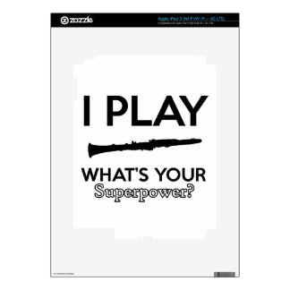 clarinet designs decal for iPad 3