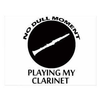 clarinet designs postcard